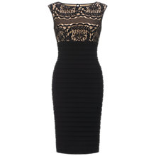 Buy Adrianna Papell Romantic Lace Band Dress, Black Online at johnlewis.com