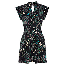 Buy Warehouse Butterfly Playsuit, Black Online at johnlewis.com