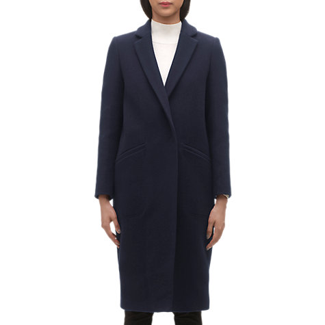Buy Whistles Holly Longline Overcoat, Navy Online at johnlewis.com
