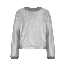 Buy Whistles Foil Print Sweatshirt, Silver Online at johnlewis.com