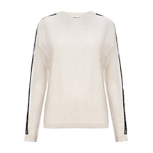Buy Whistles Penelope Lace Jumper, Neutral Online at johnlewis.com