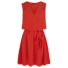 Buy Warehouse Open Neck Skater Dress, Orange Online at johnlewis.com