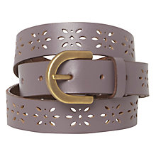 Buy White Stuff Skinny Cut Out Belt, Dusty Fig Online at johnlewis.com