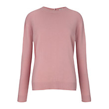 Buy Whistles Popperback Cashmere Jumper, Pale Pink Online at johnlewis.com