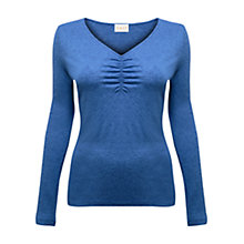 Buy East Ruched Front Jersey Top, Cobalt Online at johnlewis.com