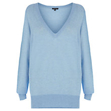 Buy Warehouse Sheer Yarn Jumper, Light Blue Online at johnlewis.com