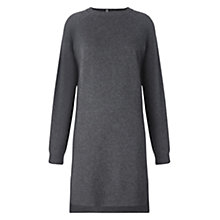 Buy Whistles Popperback Cashmere Dress, Dark Grey Online at johnlewis.com