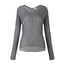 Buy Whistles Mimmi Silk Mix Jumper, Pale Grey Online at johnlewis.com