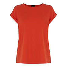 Buy Warehouse Floral Jacquard T-shirt, Orange Online at johnlewis.com