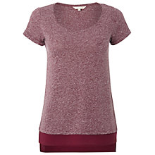 Buy White Stuff Short Sleeve Jasia Tee, Magenta Gouache Online at johnlewis.com