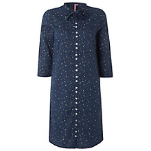 Buy White Stuff Sketch Shirt Dress, Dark Blue Velvet Online at johnlewis.com