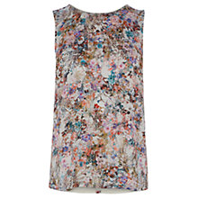Buy Warehouse Bright Floral Woven Front Top, Multi Online at johnlewis.com