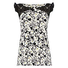 Buy Oasis Smudgy Floral Print Shell Top, Multi Online at johnlewis.com