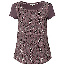 Buy White Stuff Leddenhall Fish Print T-shirt, Dusty Fig Online at johnlewis.com