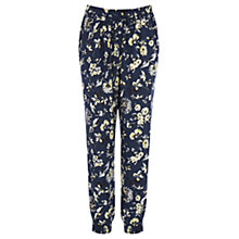 Buy Warehouse Mud Honey Floral Trousers, Multi Online at johnlewis.com