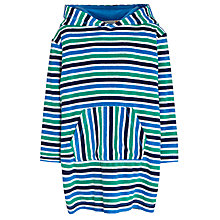 Buy John Lewis Boy Stripe Towelling Poncho, Green/Multi Online at johnlewis.com