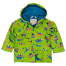 Buy Hatley Boys' Dinosaur Print Rain Jacket, Green/Multi Online at johnlewis.com