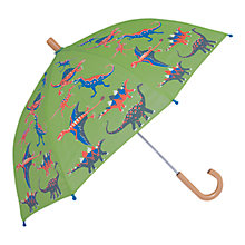 Buy Hatley Children's Dinosaur Print Umbrella, Green Online at johnlewis.com