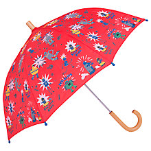 Buy Hatley Children's Robot Print Umbrella, Red Online at johnlewis.com