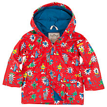 Buy Hatley Boys' Robot Print Rain Jacket, Red Online at johnlewis.com