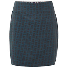 Buy White Stuff Cord Check Skirt, Teal Online at johnlewis.com