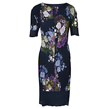 Buy Viyella Petite Floral Crinkle Dress, Indigo Online at johnlewis.com