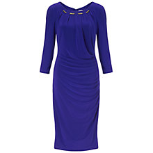 Buy Gina Bacconi Gold Trim Jersey Dress, Sapphire Online at johnlewis.com