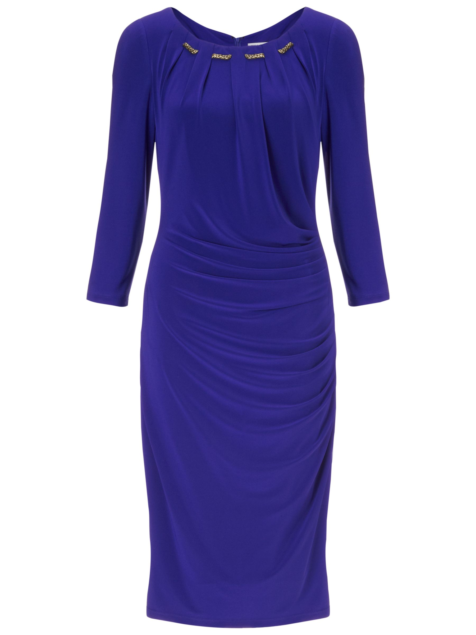 gina bacconi gold trim jersey dress sapphire, gina, bacconi, gold, trim, jersey, dress, sapphire, gina bacconi, 12|14|22|18|16, clearance, womenswear offers, womens dresses offers, women, inactive womenswear, new reductions, womens dresses, special offers, 1621144