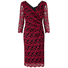 Buy Gina Bacconi Two Tone Sequin Lace Dress, Red Online at johnlewis.com