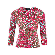 Buy Viyella Petite Brushstroke Top, Geranium Online at johnlewis.com