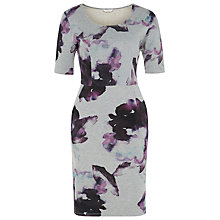 Buy Kaliko Floral Print Dress, Grey Online at johnlewis.com