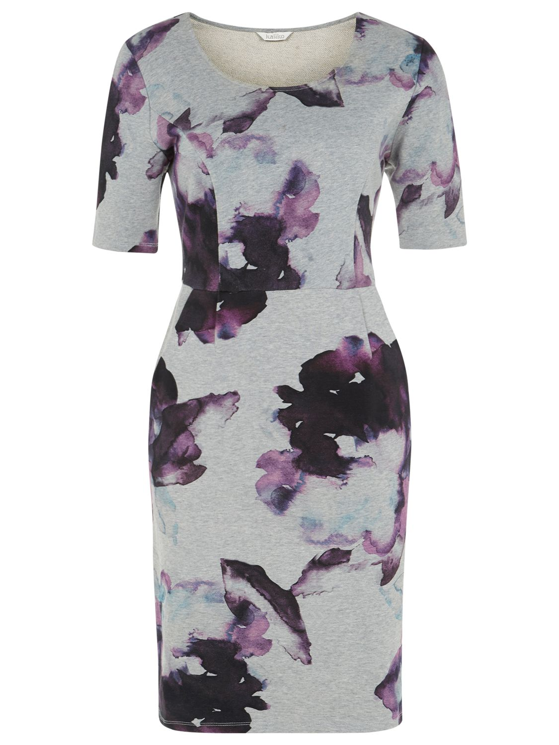 kaliko floral print dress grey, kaliko, floral, print, dress, grey, 14|8, clearance, womenswear offers, womens dresses offers, special offers, 20% off selected kaliko, women, womens dresses, inactive womenswear, aw14 trends, floral bloom, edition magazine, workwear, 1619505