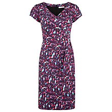 Buy Kaliko Avery Dab Print Dress, Purple Online at johnlewis.com