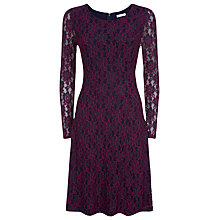 Buy Kaliko Lace Skater Dress, Multi Blue Online at johnlewis.com
