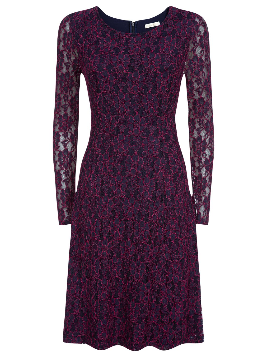 kaliko lace skater dress multi blue, kaliko, lace, skater, dress, multi, blue, clearance, womenswear offers, womens dresses offers, new years party offers, special offers, 20% off selected kaliko, women, plus size, womens dresses, 1619490