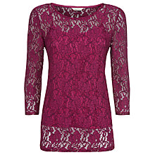 Buy Kaliko Two Tone Lace Top, Purple Online at johnlewis.com
