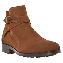 Buy Dune Cowboy Suede Boots, Tan Online at johnlewis.com