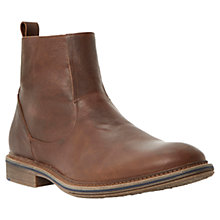 Buy Dune Leather Climber Boots, Tan Online at johnlewis.com