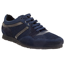 Buy BOSS Orange Tracksor Suede Lace-Up Trainers Online at johnlewis.com