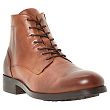Buy Dune Credible Leather Boots, Tan Online at johnlewis.com
