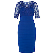 Buy Kaliko Lace and Jersey Dress, Cobalt Blue Online at johnlewis.com