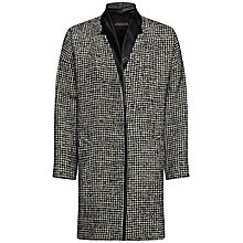 Buy Jaeger Drop Shoulder Coat, Black/White Online at johnlewis.com