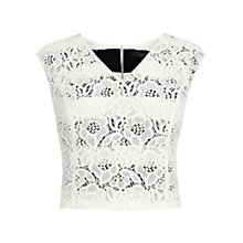 Buy Coast Millas Lace Crop Top, Ivory Online at johnlewis.com