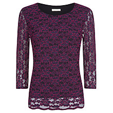 Buy Kaliko Two Colour Lace Blouse, Pink/Navy Online at johnlewis.com