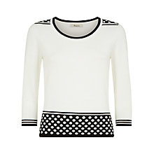 Buy Precis Petite Spot And Stripe Jumper, Ivory Online at johnlewis.com
