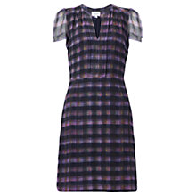 Buy Jigsaw Jewel Check Soft Pleat Dress, Multi Online at johnlewis.com