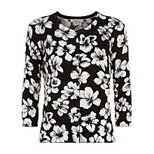 Buy Precis Petite Floral Cardigan, Black Online at johnlewis.com