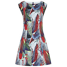 Buy Reiss Ottoline Printed Overlay Dress, Jungle Feather Online at johnlewis.com