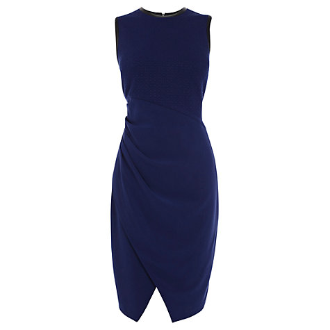 Buy Coast Collandra Crepe Dress, Navy Online at johnlewis.com