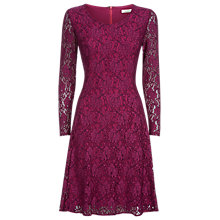 Buy Kaliko Lace Skater Dress, Purple Online at johnlewis.com